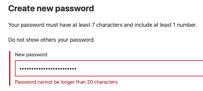 MyGov password fail